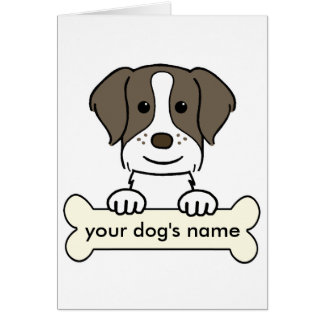 Personalized Brittany Spaniel Card