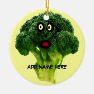 Personalized Broccoli Cartoon Christmas Ornament
