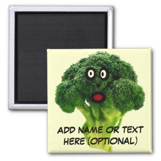 Personalized Broccoli Cartoon Square Magnet