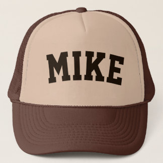 Personalized Brown Short Name Trucker Hat