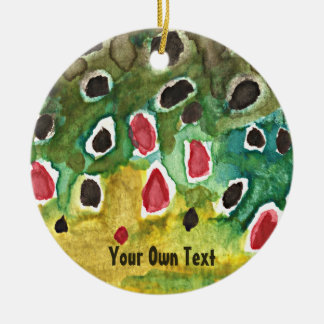 Personalized Brown Trout, Fly Fishing Christmas Ornament