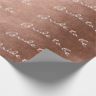 Personalized Brush Bride To Be Blush Pink Rose Wrapping Paper
