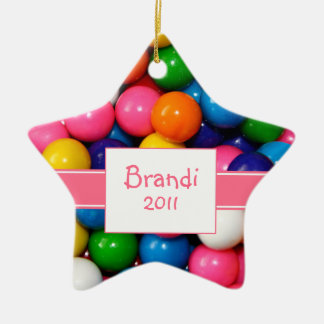 Personalized Bubblegum Ornament