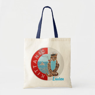 Personalized Budget Tote Bag with Captain Cat