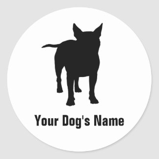 Personalized Bull Terrier ブル・テリア Round Stickers