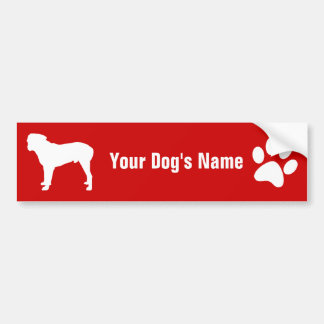 Personalized Bullmastiff ブル・マスティフ Bumper Sticker