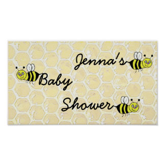 Personalized Bumblebee Baby Shower Poster