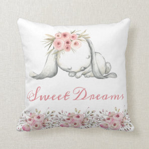 Personalized Bunny Nursery Room Sweet Dreams Cushion