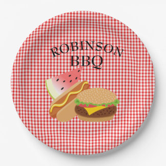 Personalized Burger, Hotdog & Watermelon Plates