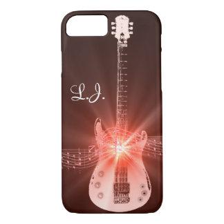 Personalized Burning Guitar Theme Design iPhone 8/7 Case