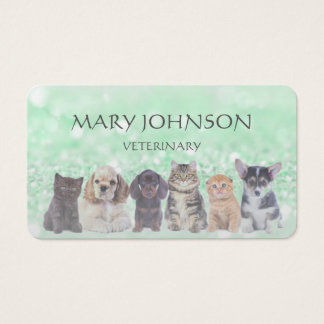 Personalized Business Card Veterinary