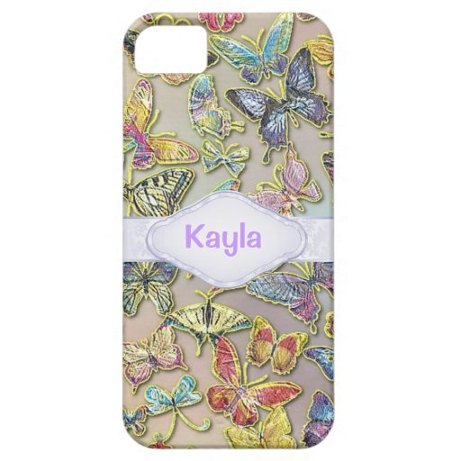 PERSONALIZED BUTTERFLY CHIC CUSTOM I PHONE 5S CASE COVER FOR iPhone 5/5S