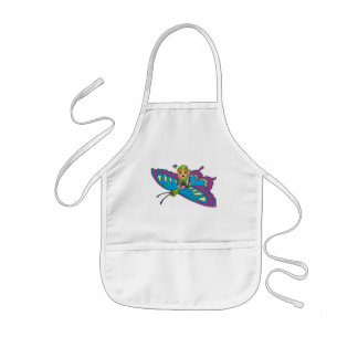 Personalized Butterfly Girl Kids Apron