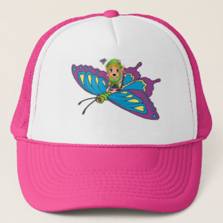 Personalized Butterfly Girl Trucker Hat