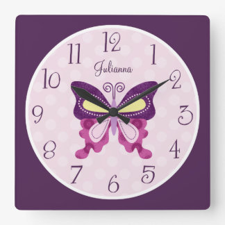 Personalized Butterfly Lane Nursery Clock