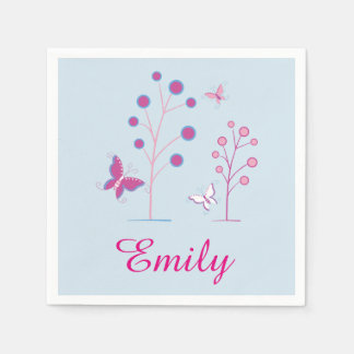 Personalized Butterfly Napkins Disposable Napkin