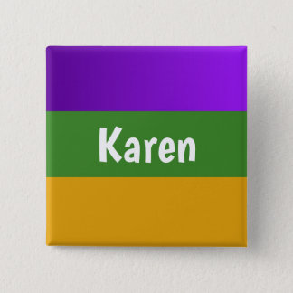 Personalized button Mardi Gras