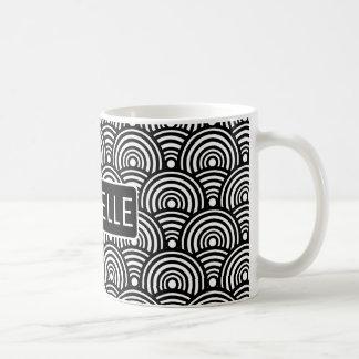 Personalized BW Fish Scale Coffee Mug