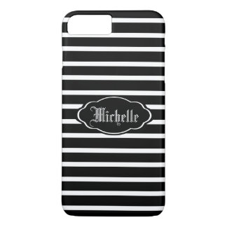 Personalized BW H Stripe iPhone 7 Plus Case