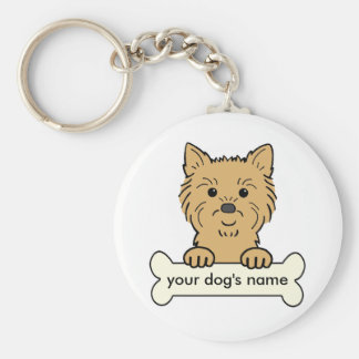 Personalized Cairn Terrier Basic Round Button Key Ring