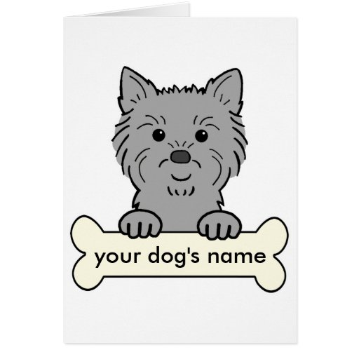 Personalized Cairn Terrier Greeting Cards