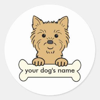 Personalized Cairn Terrier Round Sticker