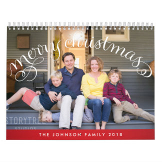 Personalized Calendars Photo Merry Christmas 2018