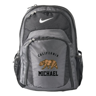 Personalized California and Grizzly Bear Backpack