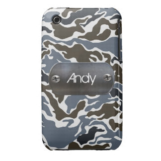 personalized camo army gray iPhone 3 cases