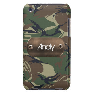 personalized camo army green iPod touch Case-Mate case