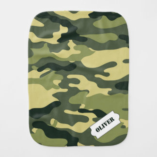 Personalized Camo burp cloth, green camouflage Burp Cloth