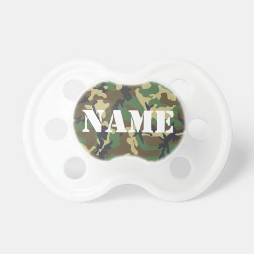 Personalized Camouflage Pacifier