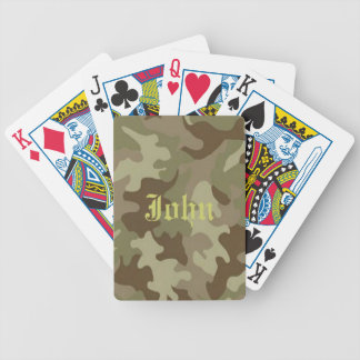 Personalized Camouflage Playing Cards