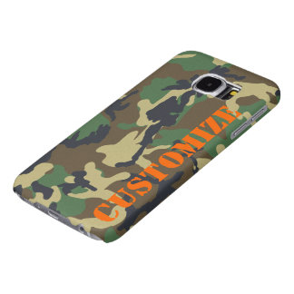 Personalized Camouflage Print Samsung Galaxy S6 Cases