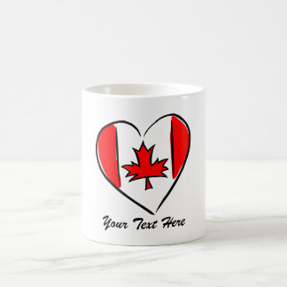Personalized Canada Heart Mug