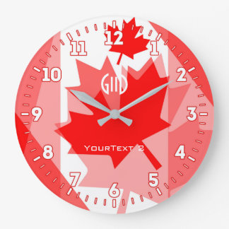 Personalized Canadian Spirit Graphic Design on a Wall Clock
