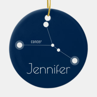 Personalized Cancer Constellation Ornament