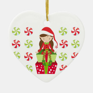 Personalized Candy Christmas Elf Christmas Ornament