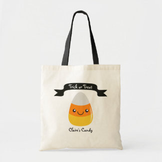 Personalized Candy Corn Emoji Halloween Bag