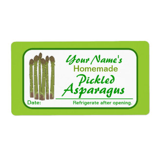 Personalized Canning Labels Pickled Asparagus