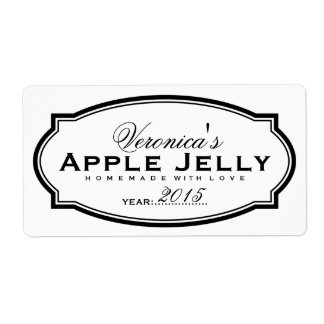 PERSONALIZED CANNING STICKER SHIPPING LABEL