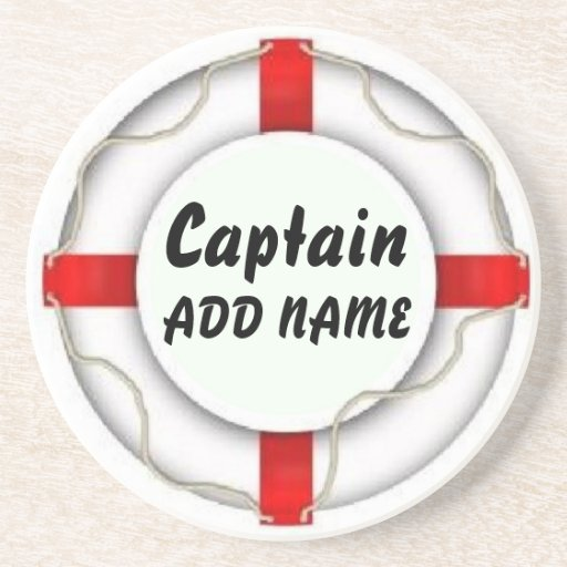 Personalized Captain Drink Coaster