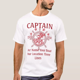 Personalized Captain First Mate Skipper Crew T-Shirt