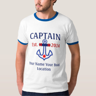 Personalized Captain First Mate Skipper Gear T-Shirt