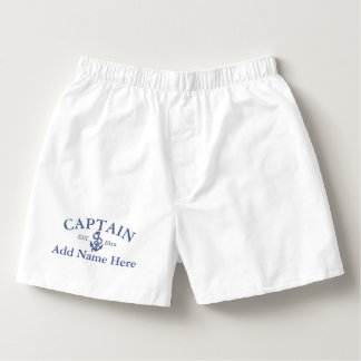 Personalized Captain Sailing Themed Boxers