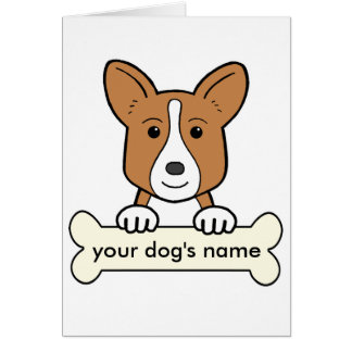 Personalized Cardigan Welsh Corgi Greeting Card