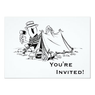 Personalized Cartoon Camp Out Personalized Invitation