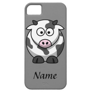 Personalized Cartoon Cow Barely There iPhone 5 Case