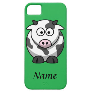 Personalized Cartoon Cow iPhone 5 Covers