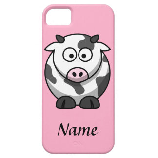 Personalized Cartoon Cow iPhone 5 Cases
